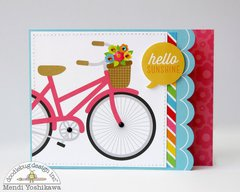 Doodlebug Sunkissed Bicycle Card by Mendi Yoshikawa