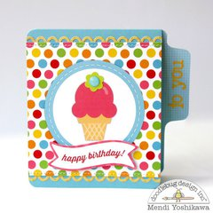 Doodlebug Sunkissed Ice Cream Card by Mendi Yoshikawa