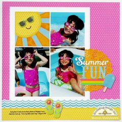 Doodlebug Sunkissed Summer Layout by Mendi Yoshikawa