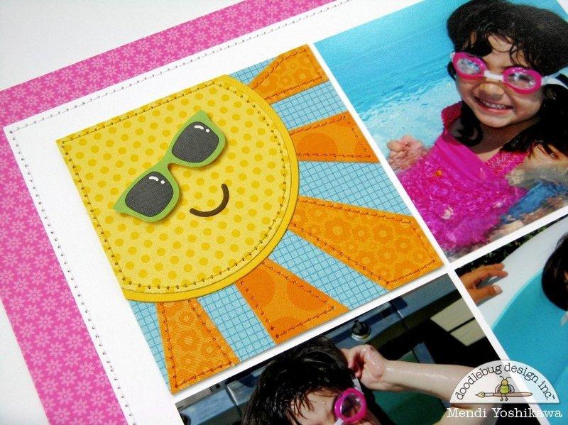 Doodlebug Sunkissed Summer Layout by Mendi Yoshikawa