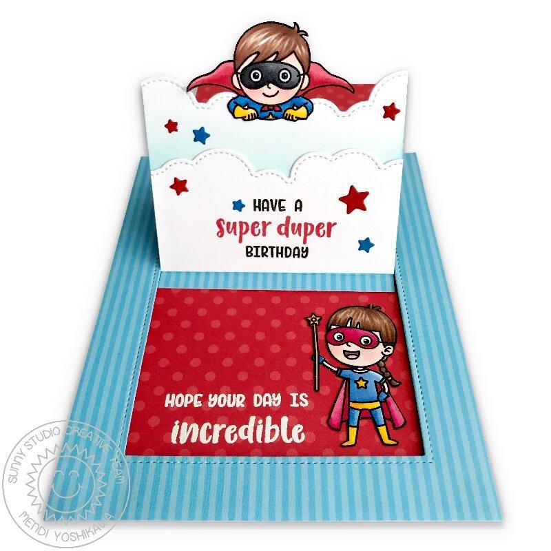 Sunny Studio Super Duper Superhero Card by Mendi Yoshikawa
