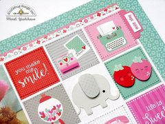 Doodlebug Sweet Things Layout by Mendi Yoshikawa