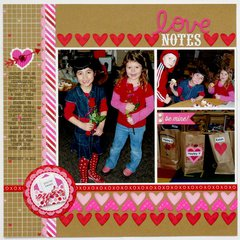 A Doodlebug Sweethearts Layout by Mendi Yoshikawa