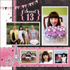 Carta Bella Paris Girl Birthday Layout by Mendi Yoshikawa