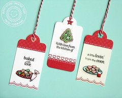 Sunny Studio Crescent Tag Topper Holiday Tags by Mendi