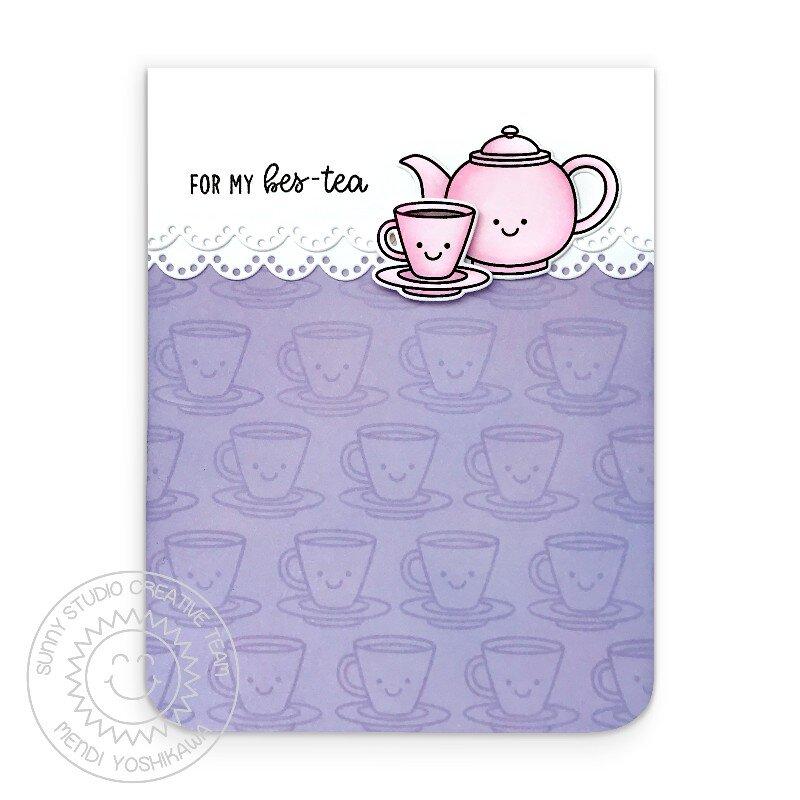 Sunny Studio Tea-riffic Card by Mendi Yoshikawa