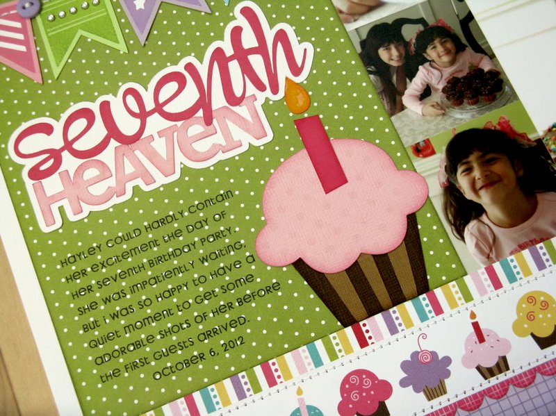 A Technique Tuesday Banner Up Birthday Layout