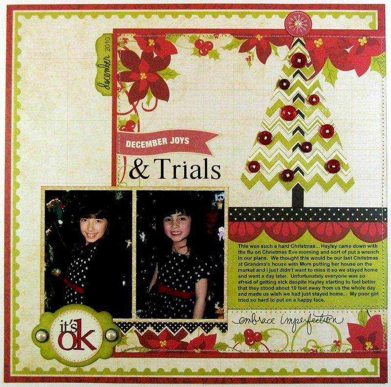 Echo Park & Technique Tuesday Christmas Layout by  by Mendi Yoshikawa