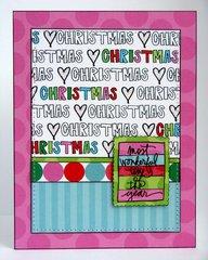 Technique Tuesday Studio AE Christmas Card by Mendi Yoshikawa