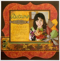 Technique Tuesday Fall Leaves Layout by Mendi Yoshikawa
