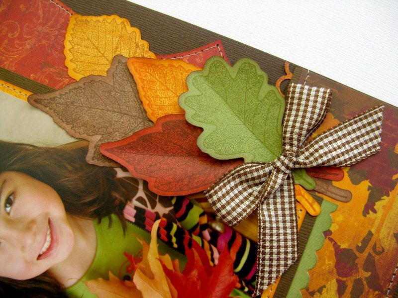 Technique Tuesday Fall Leaves Layout by Mendi Yoshikawa