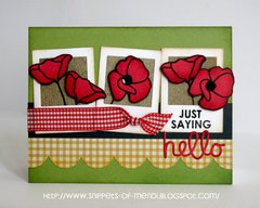 Technique Tuesday Poppies Card by Mendi Yoshikawa