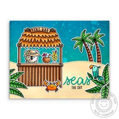 Sunny Studio Tiki Time Card by Mendi Yoshikawa