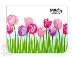 Sunny Studio Timeless Tulips Card by Mendi Yoshikawa