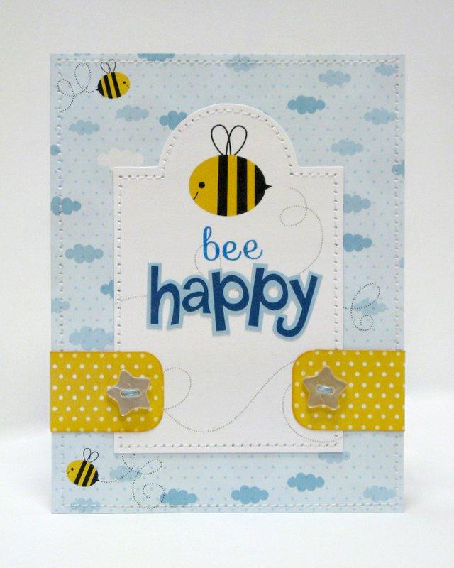 Bella Blvd Tiny Tots Bee Happy Card by Mendi Yoshikawa