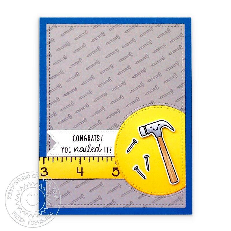 Sunny Studio Stamps Tool Time Card by Mendi Yoshikawa