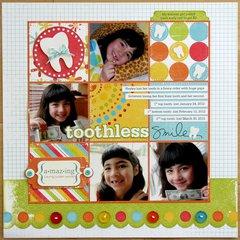 We R Memory Keepers Toothless Smile Layout by Mendi Yoshikawa