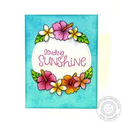 Sunny Studio Tropical Paradise Hibiscus Card by Mendi Yoshikawa