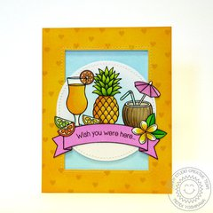 Sunny Studio Tropical Paradise Fruity Drink Card by Mendi Yoshikawa