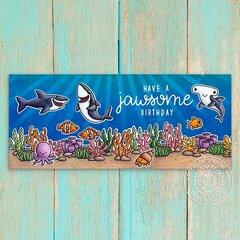 Sunny Studio Stamps Tropical Scenes Card by Mendi Yoshikawa