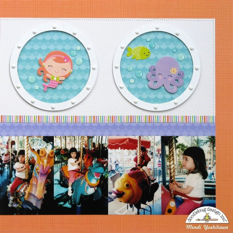 Doodlebug Under The Sea 2-Page Layout by Mendi Yoshikawa