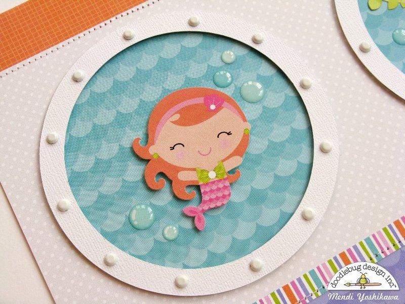 Doodlebug Under The Sea 2-Page Layout by Mendi Yoshikawa