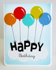 A Vellum Balloon Birthday Card by Mendi Yoshikawa