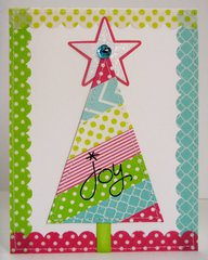 A Washi Tape Christmas Tree Card by Mendi Yoshikawa