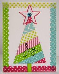 A Washi Tape Christmas Tree Card by Mendi Yoshikawa