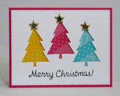 Washi Tape Christmas Tree Card by Mendi Yoshikawa