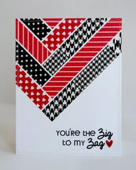 Washi Tape Valentine's Day Card by Mendi Yoshikawa