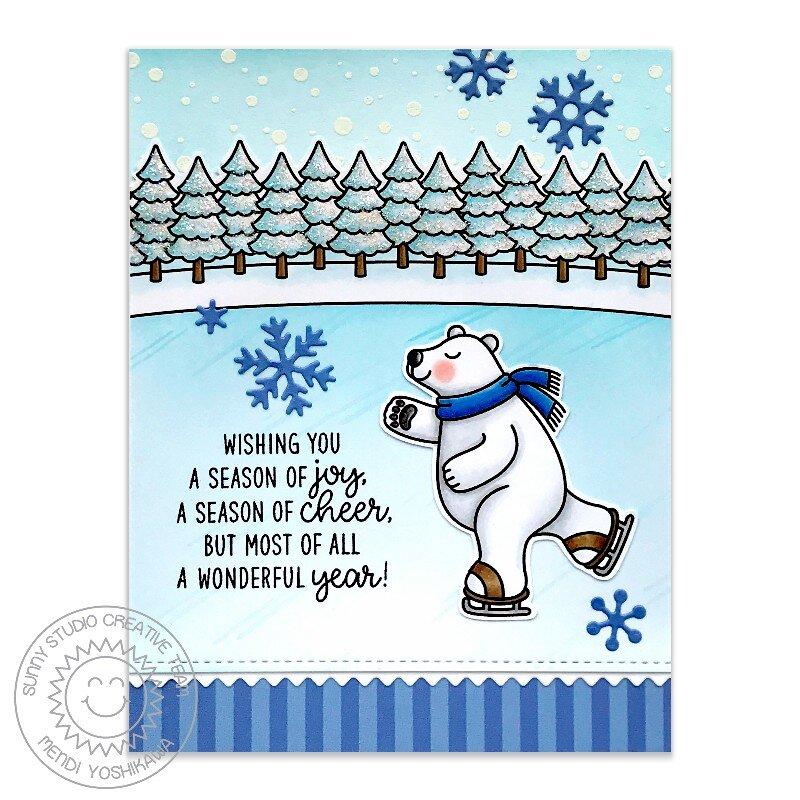 Sunny Studio Polar Bear Christmas Card by Mendi Yoshikawa