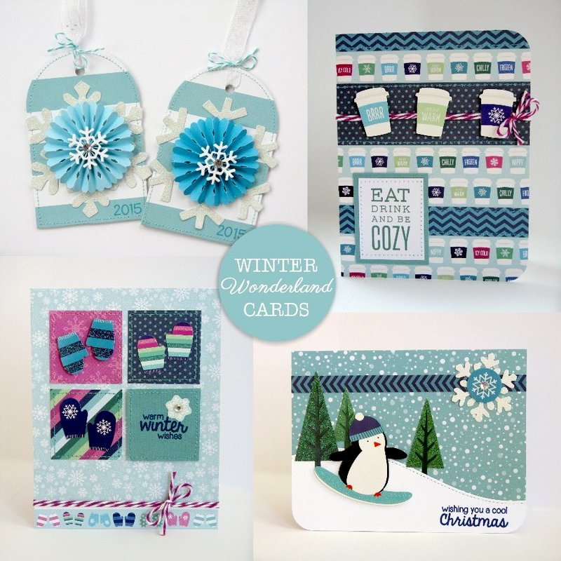 Pebbles Winter Wonderland Christmas Cards by Mendi Yoshikawa