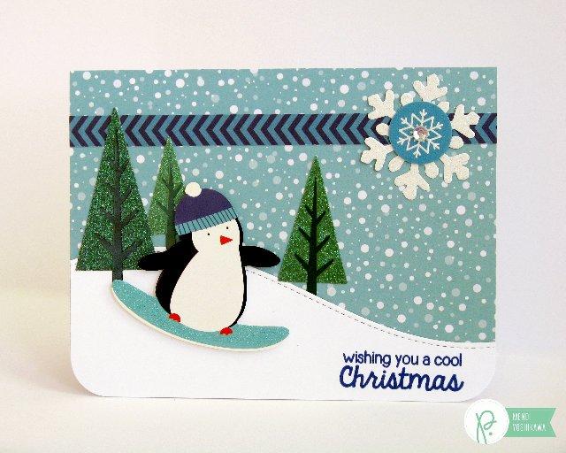 Pebbles Winter Wonderland Christmas Cards by Mendi Yoshikawa