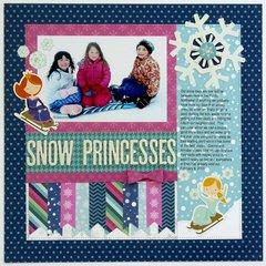 Pebbles Winter Wonderland Snow Layout by Mendi Yoshikawa