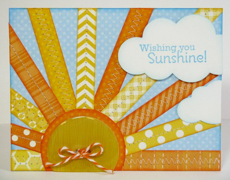 n Echo Park Summer Sunshine Card by Mendi Yoshikawa