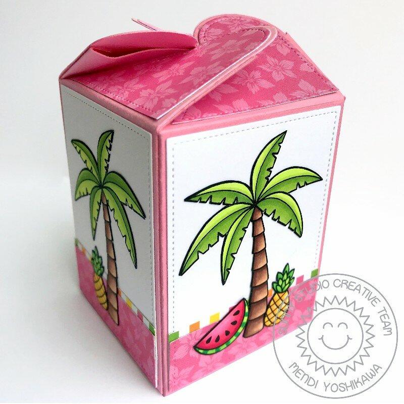 Sunny Studio Flamingo Wrap Around Gift Box by Mendi Yoshikawa