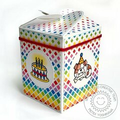 Sunny Studio Dog Themed Birthday Wrap Around Box by Mendi Yoshikawa