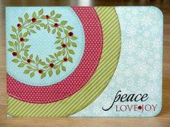 My Mind's Eye Wreath Christmas Card by Mendi Yoshikawa