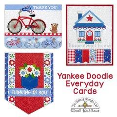 Doodlebug Yankee Doodle Card by Mendi Yoshikawa