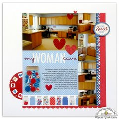 Doodlebug Yankee Doodle Craft Room Scrapbook Page by Mendi Yoshikawa