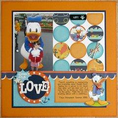 Disney Donald Duck Love Layout by Mendi Yoshikawa