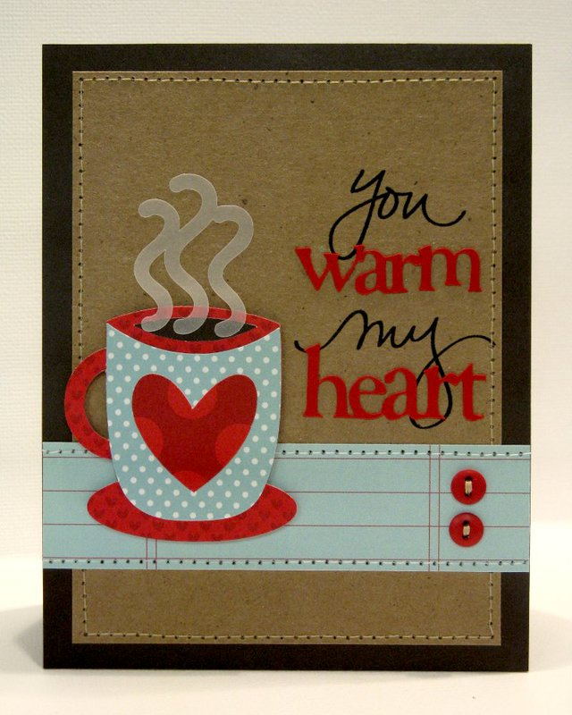 You Warm My Heart Coffee/Cocoa Card by Mendi Yoshikawa