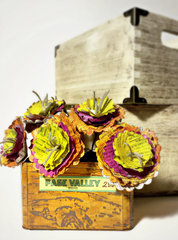Crate of 3-D flowers for Eileen Hull of Sizzix