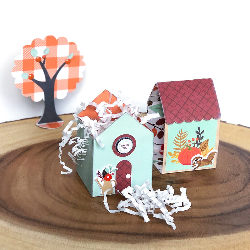 My Favorite Fall House Sliding Gift Box