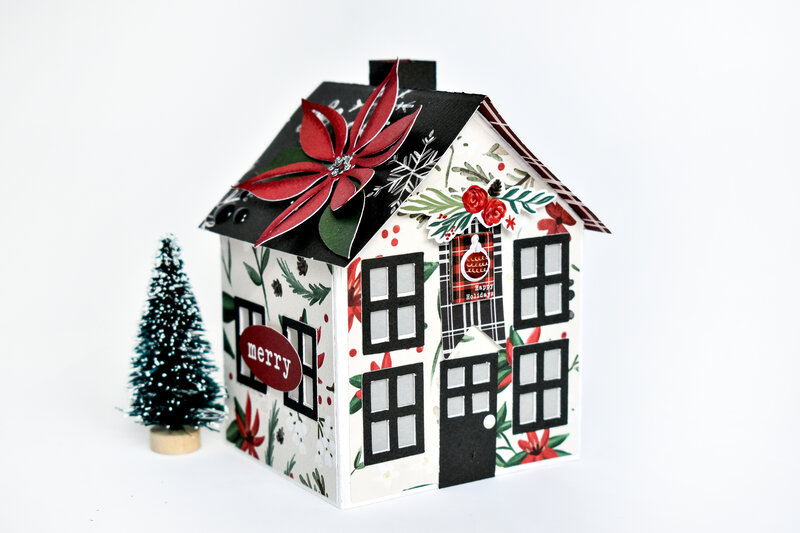 Christmas Market Paper House 1