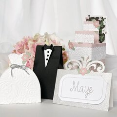 """Echo Park Paper """"Wedding Day"""" Favor Boxes and Card"""