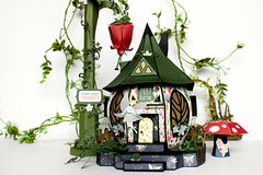 Lost in Neverland Paper Fairy House