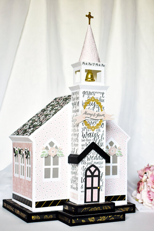 Echo Park Paper Wedding Day Paper Church Card Box
