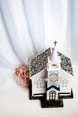 Echo Park Paper Wedding Day Paper Church Card Box